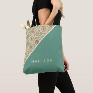 Southwest Geo Step | Southwest Hexagon Pattern Tote Bag