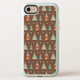 Southwest Geo Step | Teal Teepee Pattern OtterBox Symmetry iPhone 8/7 Case