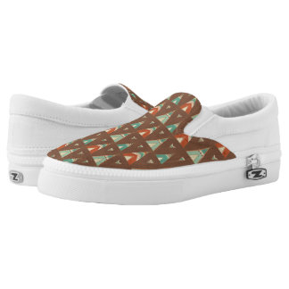 Southwest Geo Step | Teal Teepee Pattern Slip-On Shoes