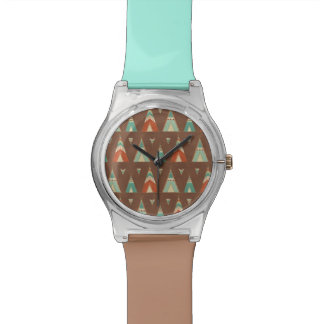 Southwest Geo Step | Teal Teepee Pattern Watch