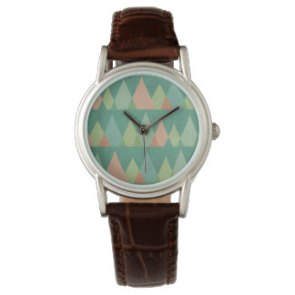 Southwest Geo Step | Teal Triangle Pattern Watch