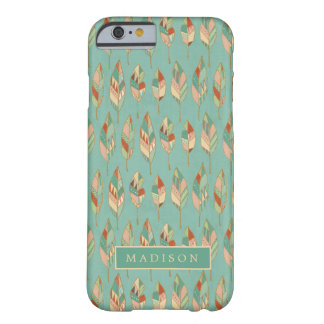 Southwest Geo Step | Watercolor Feather Pattern Barely There iPhone 6 Case