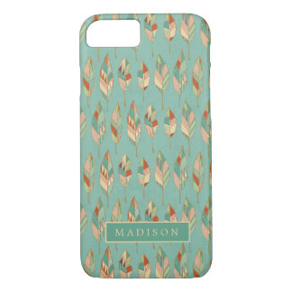Southwest Geo Step | Watercolor Feather Pattern iPhone 8/7 Case