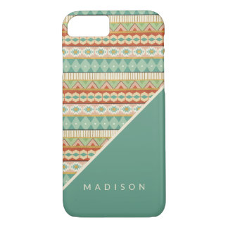 Southwest Geo Step | Watercolor Tribal Pattern iPhone 8/7 Case