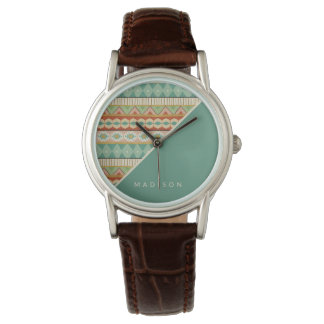 Southwest Geo Step | Watercolor Tribal Pattern Watch