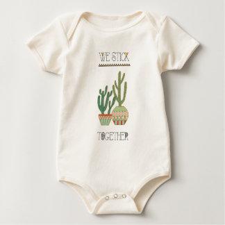 Southwest Geo VIII   We Stick Together Baby Bodysuit
