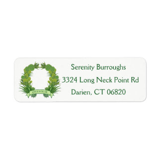 Southwest Green Succulent Cactus Wreath Love Return Address Label