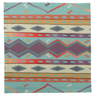 Southwest Indian Design Cloth Napkin Set of 4