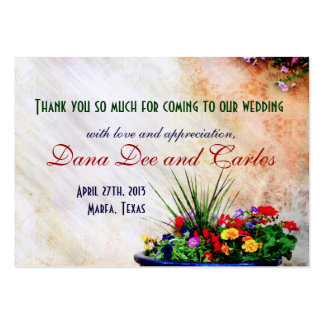 Wedding Gift Thank You Cards Pack : ... inspired Wedding Gift Bag Thank You Card Pack Of Chubby Business Cards