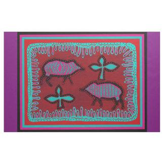 Southwest Javelinas Colorful Designer Fabric