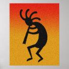 Southwest Kokopelli Desert Sun  Wall Art Poster