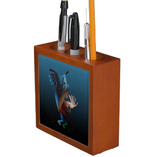 Southwest Kokopelli Flute Music Desk Organizer
