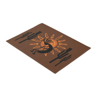Southwest Kokopelli Sun Rustic Door Mat
