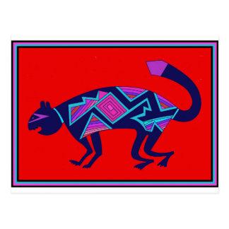 Southwest Mimbres Cat Postcard