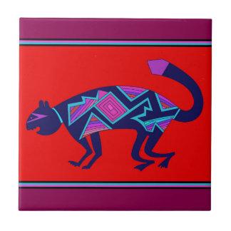 Southwest Mimbres Cat Tile