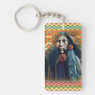 Southwest Native American Brave Key Ring