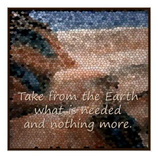Southwest Native American Earth Quote Poster