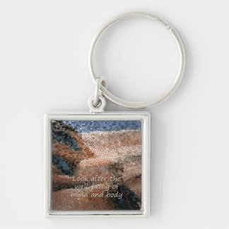 Southwest Native American Well Being P Keychain