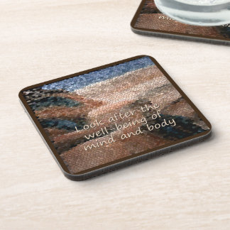 Southwest Native American Well Being Plastic Coaster