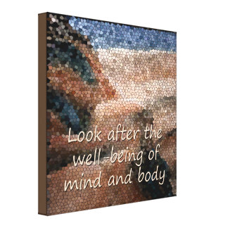 Southwest Native American Well Being Quote Canvas
