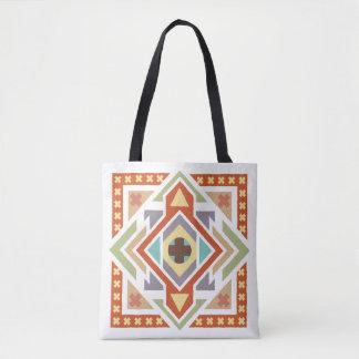 Southwest Native Tribal Geometric Pattern Tote Bag