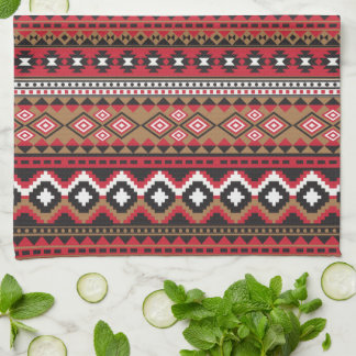 Southwest navajo aztec pattern tea towel