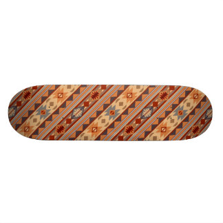 Southwest Pattern Design Tan 21.6 Cm Skateboard Deck