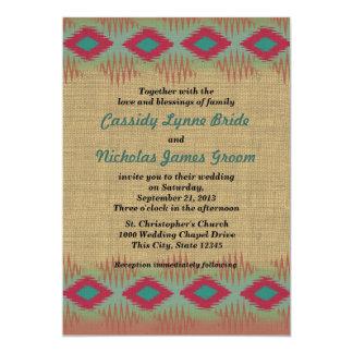 Southwest Pattern Wedding 13 Cm X 18 Cm Invitation Card