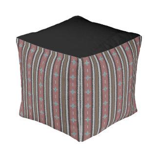 Southwest Sojourn Cube Pouf