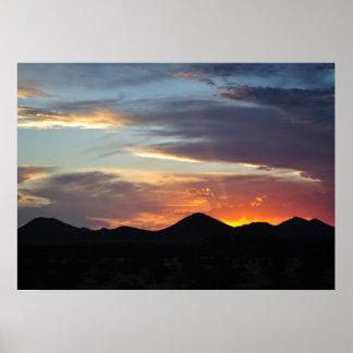 Southwest Sundown Poster