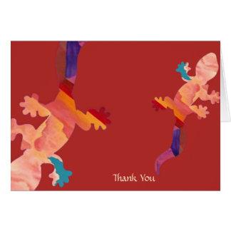Southwest Sunset Lizard Thank You Note Card