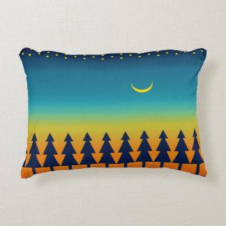 Southwest Sunset Pines Moon Decorative Cushion