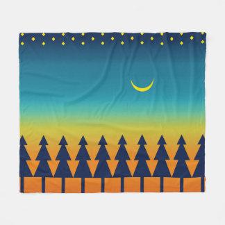 Southwest Sunset Pines Moon Fleece Blanket