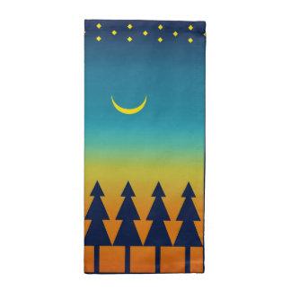 Southwest Sunset Pines Moon Napkin