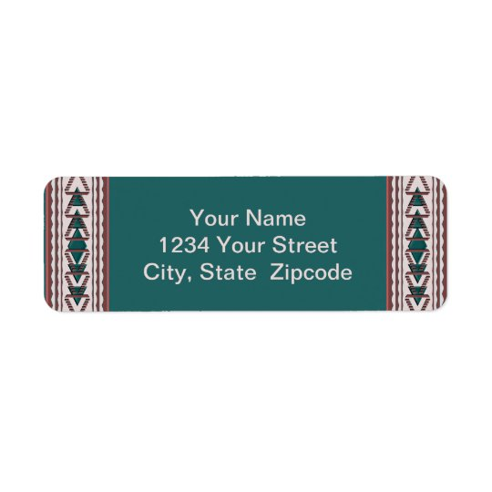 Southwest Tapestry Return Address Labels