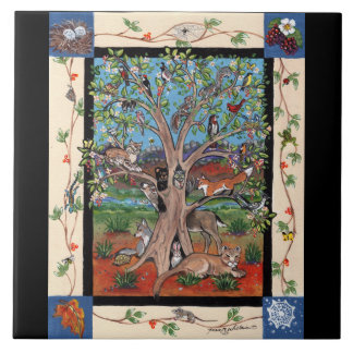"""Southwest Tree of Life"" Four Seasons, Tile Trivet"