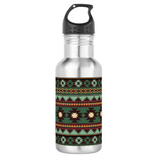 Southwest tribal green brown 532 ml water bottle