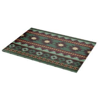 Southwest tribal green brown cutting board