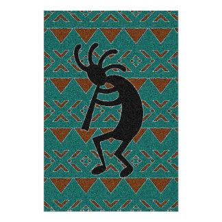 Southwest Tribal Kokopelli Poster