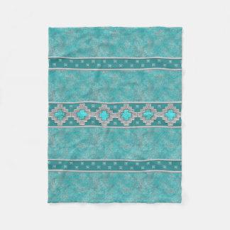 Southwest Turquoise Fleece Blanket