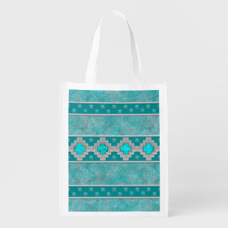 Southwest Turquoise Reusable Grocery Bag
