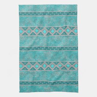 Southwest Turquoise Tea Towel