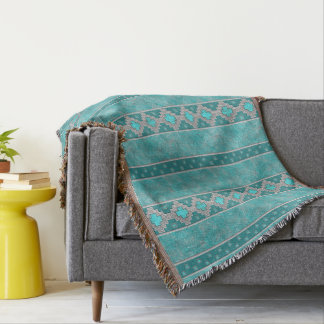Southwest Turquoise Throw Blanket