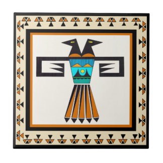 Southwest Twin Bird Head Tile