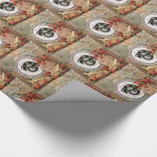 Southwest Wrapping Paper Lizard Indian Basket Corn