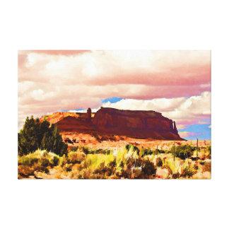 Southwestern Butte Canvas Print