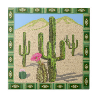 southwestern cactus tile