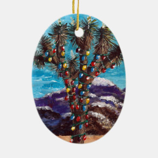 """Southwestern Christmas"" Ceramic Ornament"