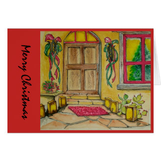 Southwestern  Christmas  door  entry i Card
