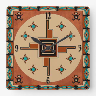 Southwestern Decor Square Wall Clock